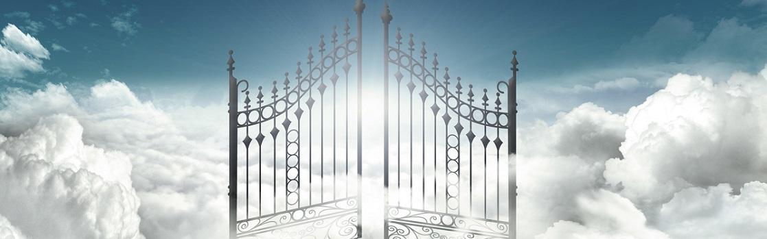 De Schrijver, de Filosoof, Engelen en een Slang bij de Poort van het Paradijs