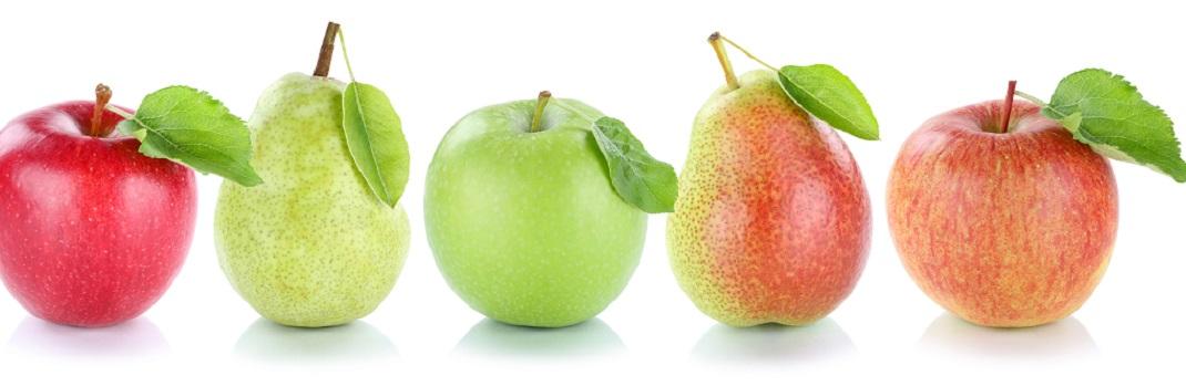Fruit en fruit of appels en peren?