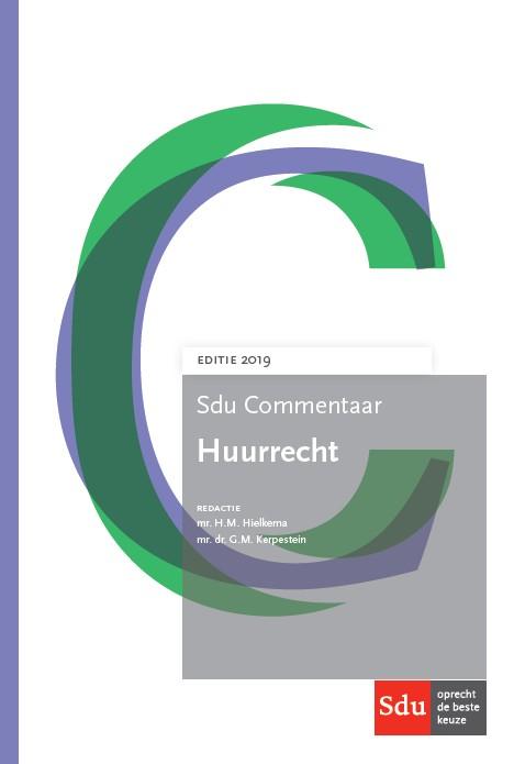 Sdu Commentaar Huurrecht, editie 2019 (boek)