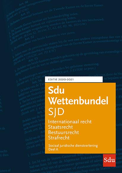 Sdu Wettenbundel Sociaal Juridische Dienstverlening 2020-2021