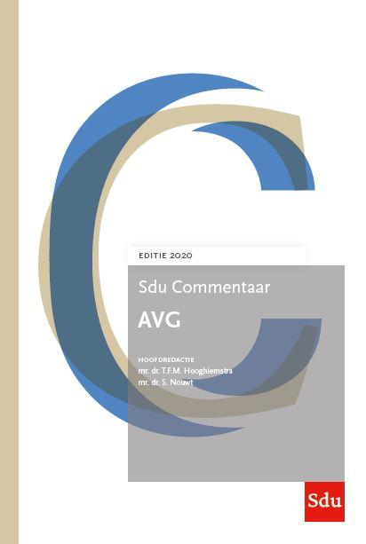 Sdu Commentaar AVG. Editie 2020 (boek)