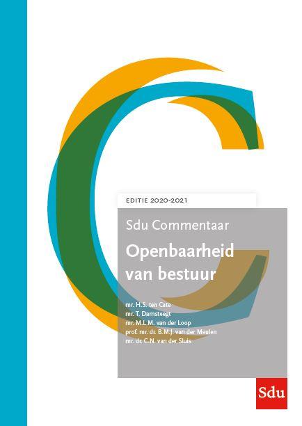 Sdu Commentaar Openbaarheid van Bestuur. Editie 2020-2021 (boek)