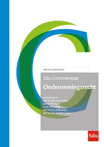 Sdu Commentaar Ondernemingsrecht. Editie 2020-2021 (boek)